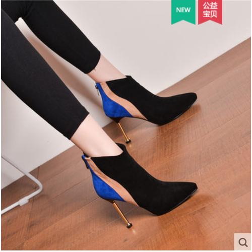 Giày bốt nữ gót nhọn da lộn pha màu thương hiệu fengsha - 20873688 , 23934721 , 15_23934721 , 1230000 , Giay-bot-nu-got-nhon-da-lon-pha-mau-thuong-hieu-fengsha-15_23934721 , sendo.vn , Giày bốt nữ gót nhọn da lộn pha màu thương hiệu fengsha