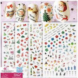 Nail Sticker Noel Độc Đáo và Mới 2020 Trang Trí Móng Nghệ Thuật