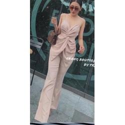 [SIÊU SALE] set áo và quần dài vải đũi thiết kế cao cấp 40-55kg