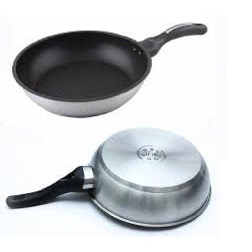 Chảo inox chống dính 3 đáy 30cm fivestar dùng được cho bếp từ - 30cm