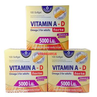 [CHÍNH HÃNG]- Combo 3 hộp - Viên Uống Vitamin A- D đẹp da -chống lão hoá- mịn da - vtm a - Viên Uống Vitamin A- D thumbnail