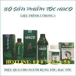 Bộ sản phẩm tóc HACO - Xịt, Uống, Gội Trị Bạc tóc, Rụng tóc hiệu quả