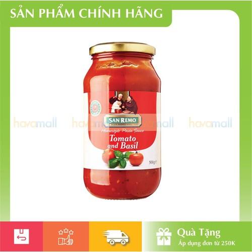 Sốt mỳ ý cà chua và rau quế san remo hủ 500 g