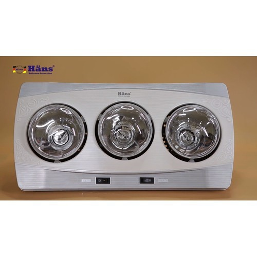 Đèn sưởi nhà tắm 3 bóng  h3b