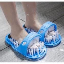 Bàn chải Massage chân, rửa chà gót chân - Dụng cụ rửa chân đa năng Dép bàn chải