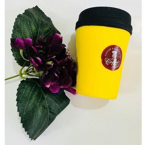Café v squishy màu vàng cốc café to bự đáng yêu hết cỡ giá sỉ