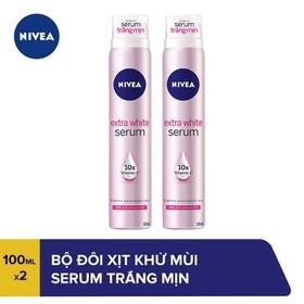 Bộ đôi Xịt khử mùi NIVEA Serum trắng mịn 80020 100ml x2 - TUNI0112CB