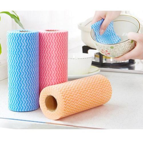Cuộn khăn lau đa năng homeeasy loại 50 miếng