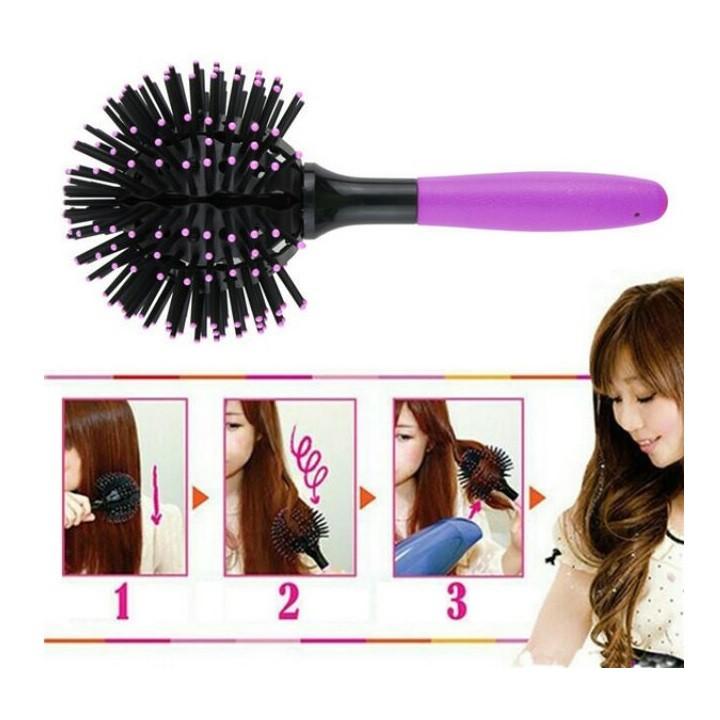 Lược uốn lọn 3d bomb curl uốn tóc siêu nhanh LU001 - LU001