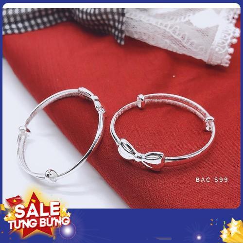 Lắc tay trẻ em bạc ta lắc tay nơ bạc s999 2019 sale