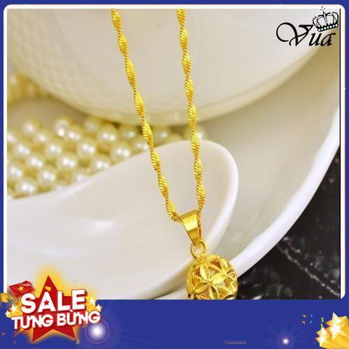 Dây chuyền vàng xi kim tiền dây xoắn cao cấp đem lại tài lộc cho phái nữ 2019 sale