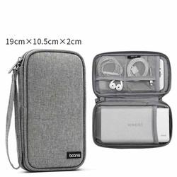 Túi đựng phụ kiện Baona cỡ vừa đựng đồ công nghệ kiêm hộp đựng tai nghe điện thoại đồ điện tử sạc dự phòng cáp sạc Boona