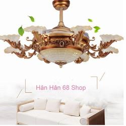 Quạt trần đèn- Quạt trần đèn trang trí Y42