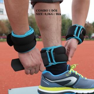Tạ đeo chân tay chạy bộ thể thao - Tạ 2c x 0,3 kg 1 bên thumbnail