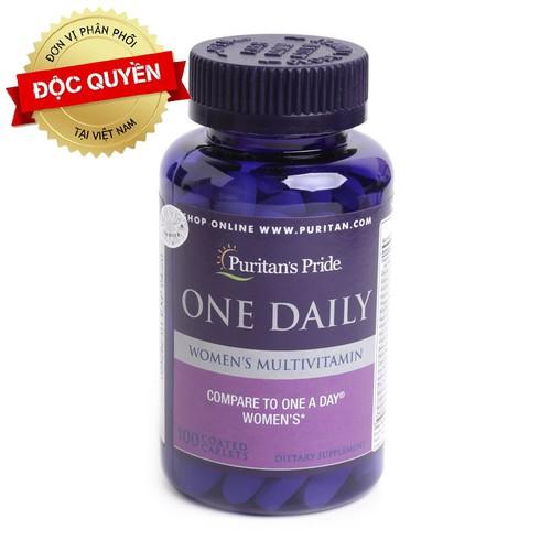 Vitamin hàng ngày cho nữ giới multivitamin daily 4 women của puritan pride hoa kỳ