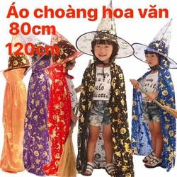 Áo Choàng và nón phù thuỷ 80cm trang phục Halloween