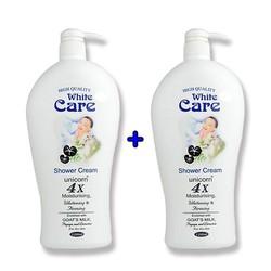 🚚[ Shop trợ giá thêm 10k ]  🌈Combo 2 chai Sữa Tắm Dê White Care Cao Cấp Malaysia Chai Khổng Lồ 1200ml x 2 chai, HSD đến tháng 07-2022