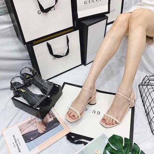 Giày sandal cao gót trụ tròn 6 phân - 17961579 , 22519767 , 15_22519767 , 195000 , Giay-sandal-cao-got-tru-tron-6-phan-15_22519767 , sendo.vn , Giày sandal cao gót trụ tròn 6 phân