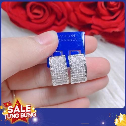 Bông tai đính đá trắng nhỏ mã bt0019023 2019 sale