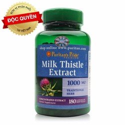 Thải độc gan chiết xuất từ Kế sữa 180 viên Milk Thistle 4:1 Extract 1000 mg của Puritan Pride Mỹ