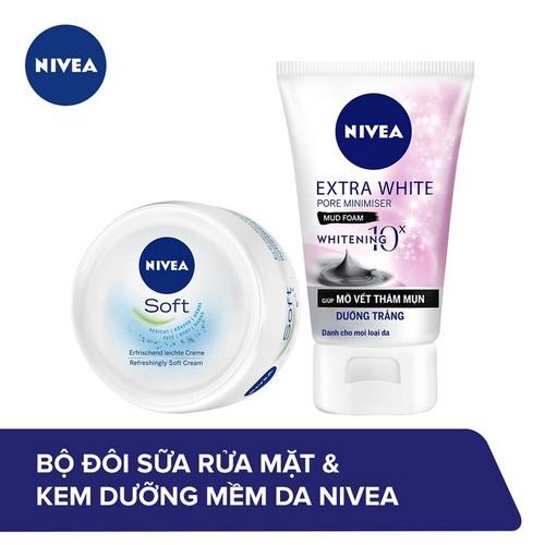 Bộ đôi nivea sữa rửa mặt nữ khoáng chất dưỡng trắng sạch sâu white pore minimiser foam 81273 100g và kem dưỡng làm mềm da soft cream 89054 50ml - 17773724 , 22517852 , 15_22517852 , 129000 , Bo-doi-nivea-sua-rua-mat-nu-khoang-chat-duong-trang-sach-sau-white-pore-minimiser-foam-81273-100g-va-kem-duong-lam-mem-da-soft-cream-89054-50ml-15_22517852 , sendo.vn , Bộ đôi nivea sữa rửa mặt nữ khoáng c