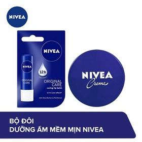 Bộ đôi NIVEA Dưỡng ẩm mềm mịn: Son 4.8g và Kem dưỡng ẩm 60ml - TUNI0116CB