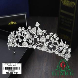 Vương miện cô dâu hoa văn lá đính đá cỡ trung - GIANGPKC - Sp002604 thumbnail