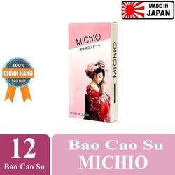 Bao cao su Nhật Bản Michio Hộp 12 Cái