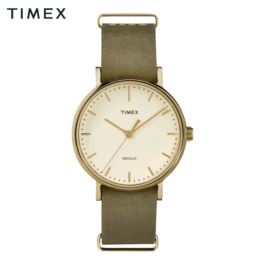 Đồng hồ nữ timex the fairfield màu xanh rêu - tw2p98500