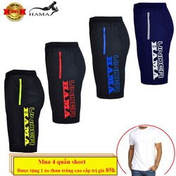 Tặng kèm áo thun 0 đồng - Combo 4 Quần shorts nam HaMa QSN02H