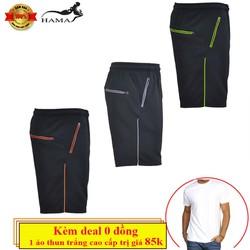 Tặng kèm deal 0 đồng - Combo 3 quần short thể thao nam HaMa QSN020