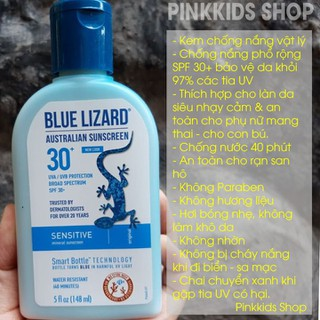 Kem chống nắng Blue Lizard Sensitive SPF 30 148ml - KCNBLSE148ML thumbnail