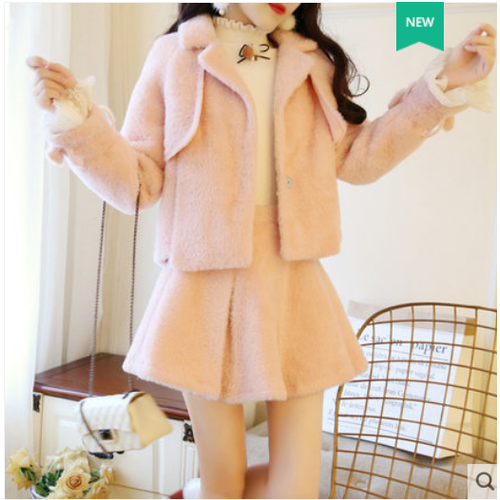 Set áo khoác và chân váy  thời trang dễ thương