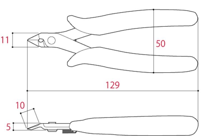 Thông số Kìm cắt chân linh kiện 125mm FC-125 Tsunoda