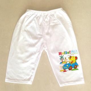 Quần cho bé sơ sinh - Set 5 quần dài trắng sơ sinh cho bé - quandaitrang thumbnail