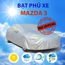Bạt phủ xe ô tô Mazda 3 - bạt trùm xe hơi cao cấp chống nắng mưa