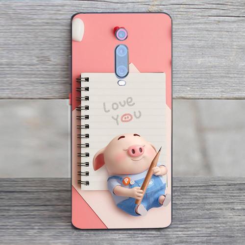 Ốp điện thoại dành cho máy xiaomi redmi note 7 - heo thiên thần dễ thương ms httdd003