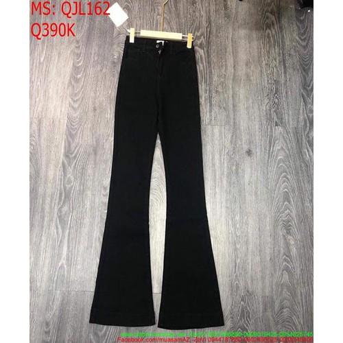 Quần jean nữ ống bass màu đen tôn dáng xinh đẹp sành điệu qjl162