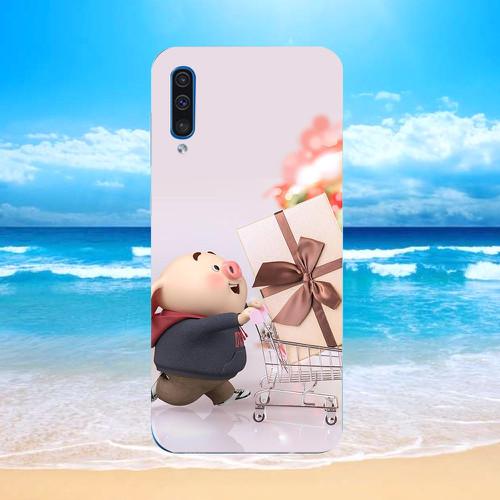 Ốp điện thoại dành cho máy samsung galaxy j6 prime - heo thiên thần dễ thương ms httdd004
