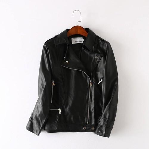 Km5929 - áo khoác da nữ cho người mập