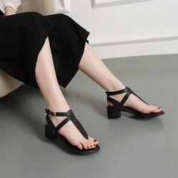 Sandal xỏ ngón hở gót