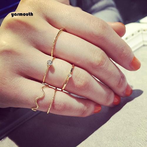 Set 5 nhẫn tay thời trang cao cấp cho nữ mã spjl4353