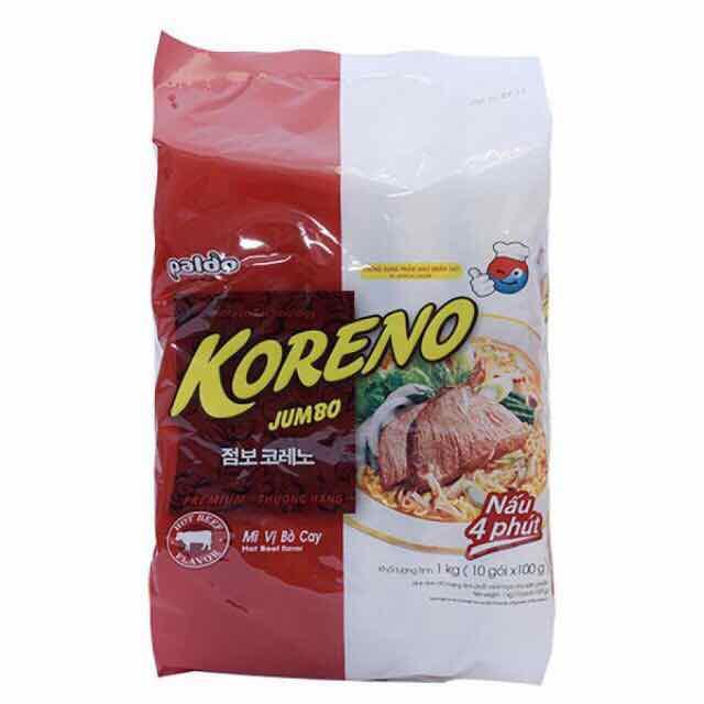 mì bò koreno 10 gói 1kg - mb10