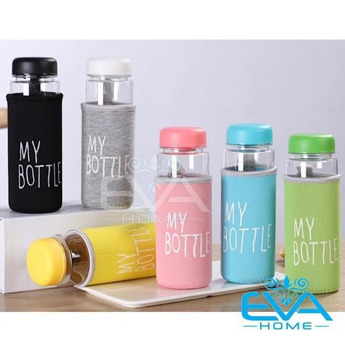 Bình nước thủy tinh in chữ my bottle kèm vỏ bọc vải neoprene nhiều màu 500ml - 19056362 , 22635758 , 15_22635758 , 35000 , Binh-nuoc-thuy-tinh-in-chu-my-bottle-kem-vo-boc-vai-neoprene-nhieu-mau-500ml-15_22635758 , sendo.vn , Bình nước thủy tinh in chữ my bottle kèm vỏ bọc vải neoprene nhiều màu 500ml