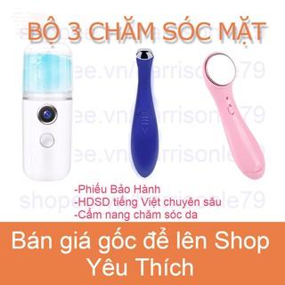 COMBO BỘ 3 CHĂM SÓC MẶT Máy phun sương Nano Máy Massage Mắt Máy Massag Mặt - A00002T-COMBO BO 3 thumbnail