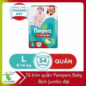 Bỉm ta quần Pamper Baby Jumbo đại - Pampers giữ dáng mới - size L54_L68 - Pamper L