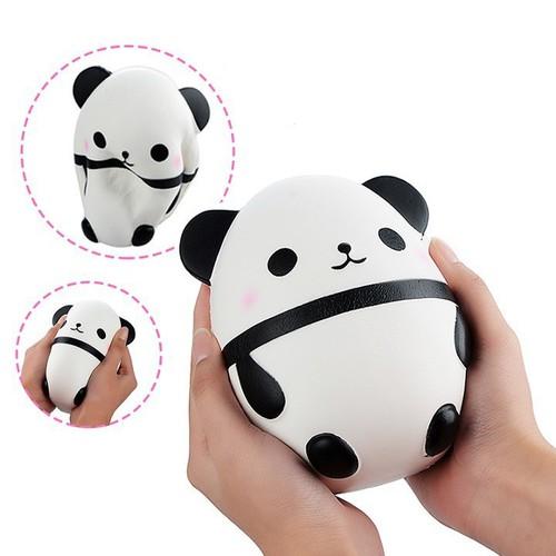 Đồ chơi bóp tay hình gấu panda dễ thương kích thước 14cm shopsquishydep