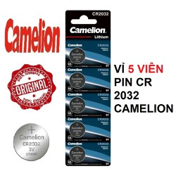 Vỉ 5 viên pin CR2032 3V CAMELION CR-2032 2032 3 Vol