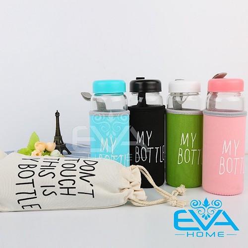 Bình nước thủy tinh in chữ my bottle kèm vỏ bọc vải neoprene và túi vải dây rút nhiều màu 500ml - 19601138 , 22635902 , 15_22635902 , 45000 , Binh-nuoc-thuy-tinh-in-chu-my-bottle-kem-vo-boc-vai-neoprene-va-tui-vai-day-rut-nhieu-mau-500ml-15_22635902 , sendo.vn , Bình nước thủy tinh in chữ my bottle kèm vỏ bọc vải neoprene và túi vải dây rút nhiều