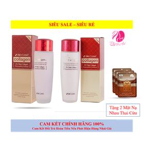 [TẶNG 2 MẶT NẠ] Combo 2 sản phẩm dưỡng da săn chắc chống lão hóa nước hoa hồng và sữa dưỡng 3W Clinic Hàn Quốc - CBNSSCD01